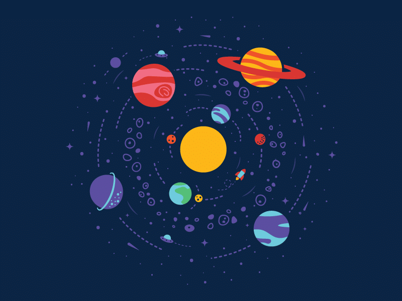 Ilustração de Sistema Solar