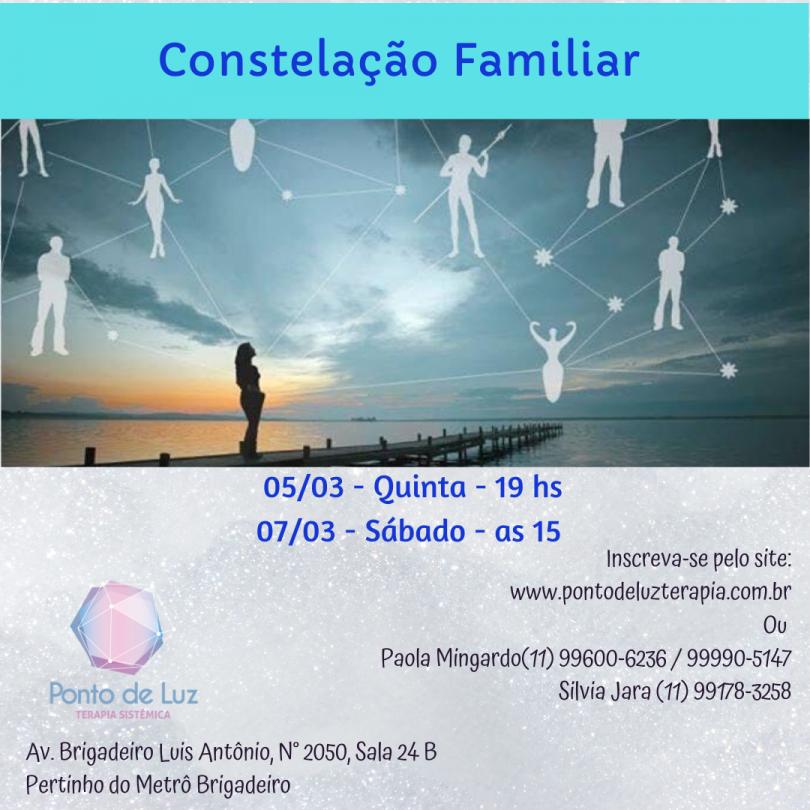 Flyer Constelação Familiar - Ponto de Luz