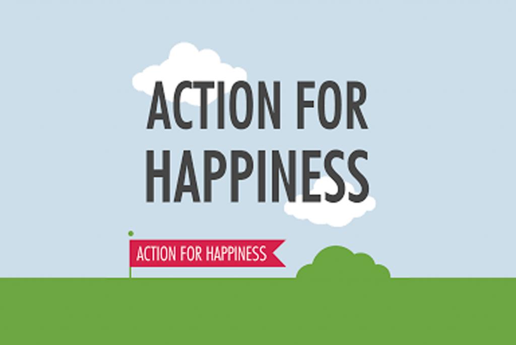 Imagem de divulgação do site Action for Happiness.