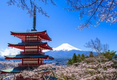 Templo Japonês visto do alto