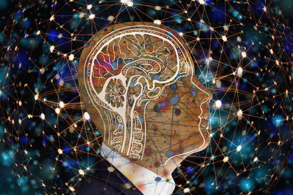 Imagem de um cérebro - inteligência artificial.
