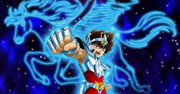 Imagem do super-herói Seiya de Pégaso, da série Cavaleiros do Zodíaco