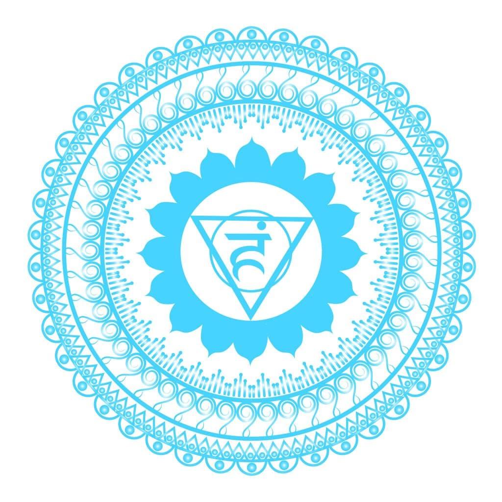 Simbolo ilustrado do Chakra Laríngeo
