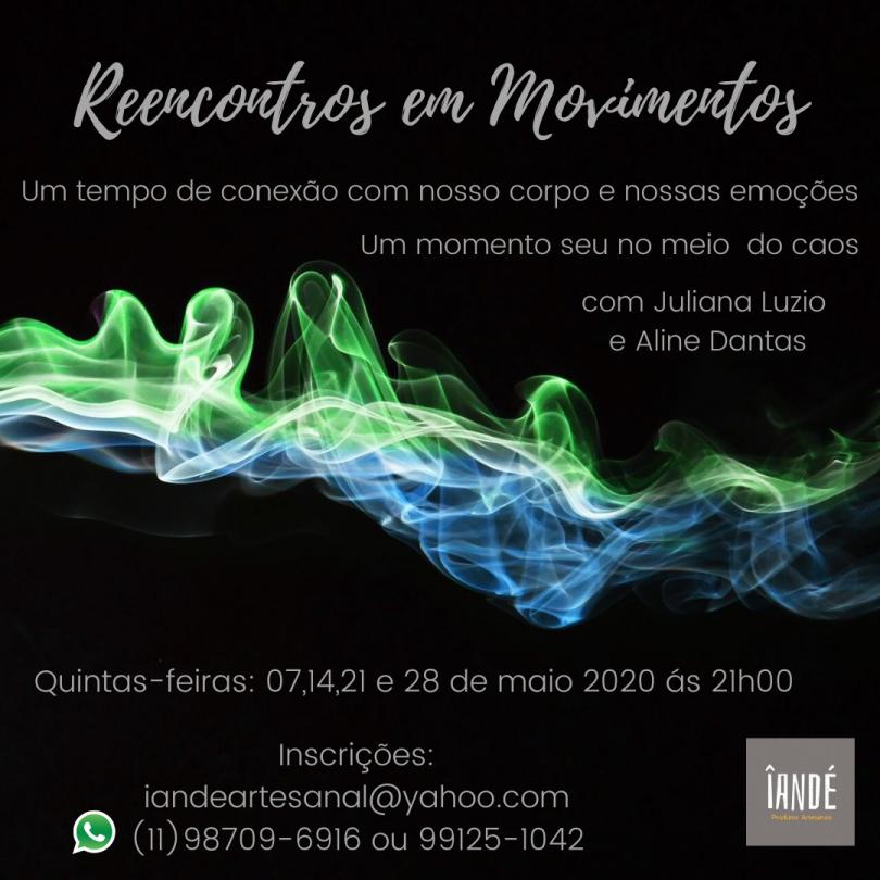 Flyer evento Reencontros e movimentos