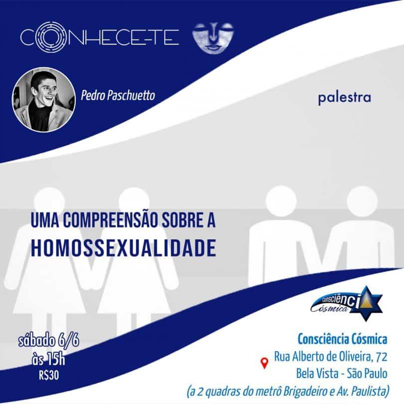 """Flyer palestra """"Uma compreensão sobre a Homossexualidade"""""""