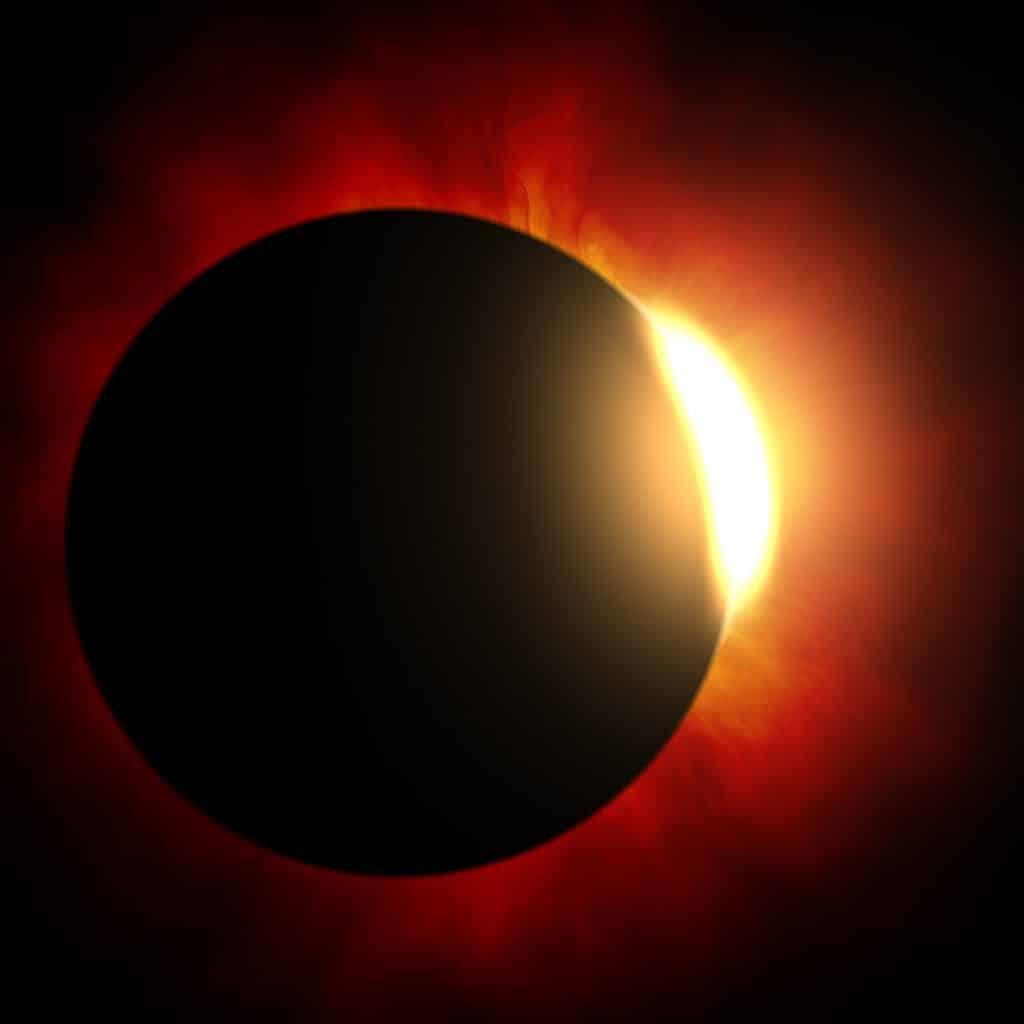 Imagem do Eclipse Solar com a Lua.
