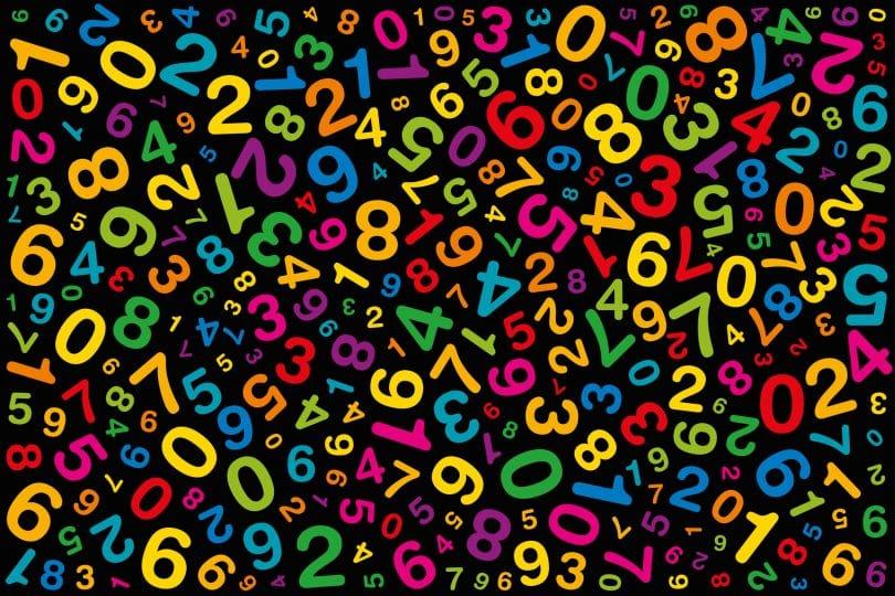 Ilustração de números coloridos