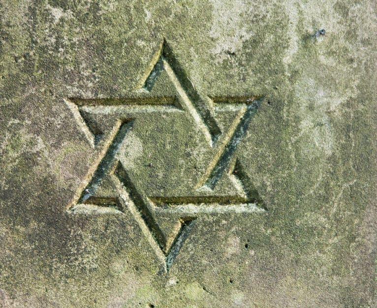 Estrela de Davi em muro
