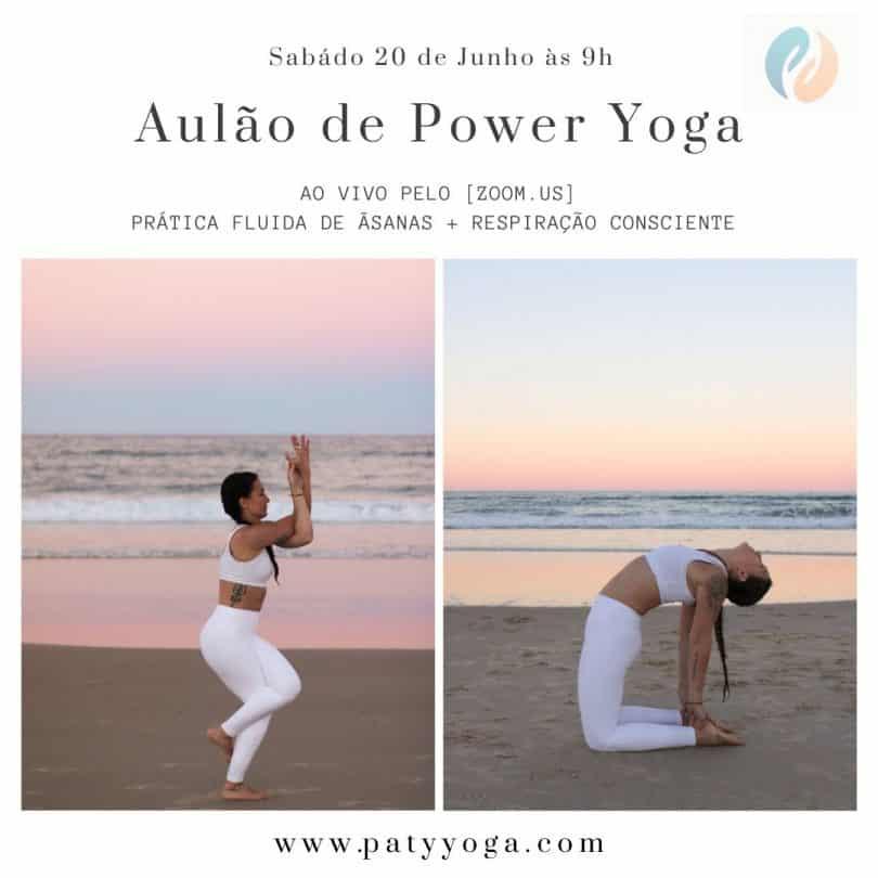 Flyer aulão de Yoga Power