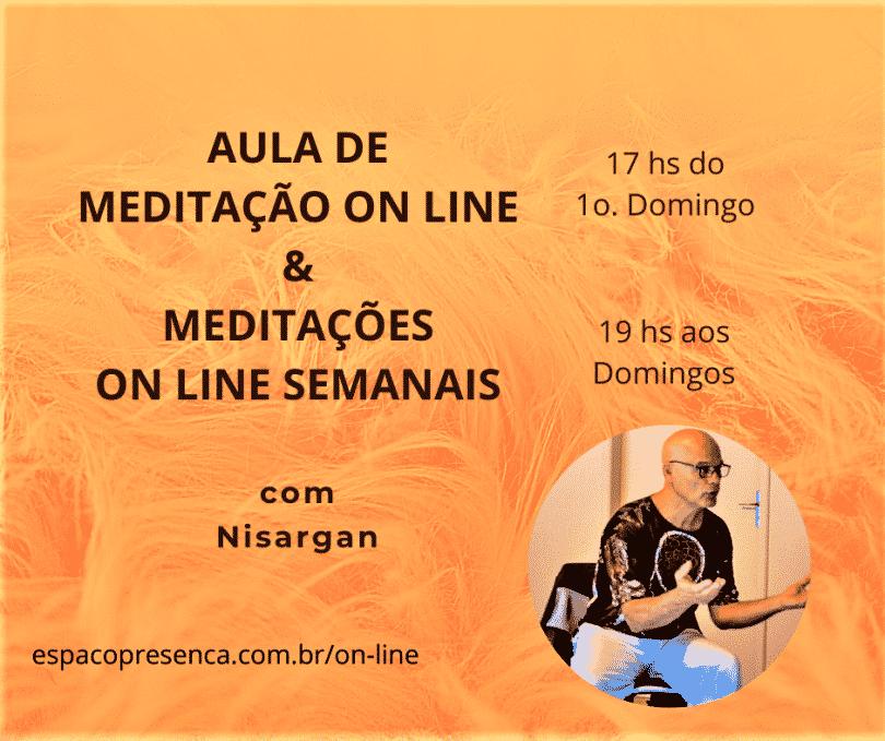 Flyer Aula de Meditação e Meditações
