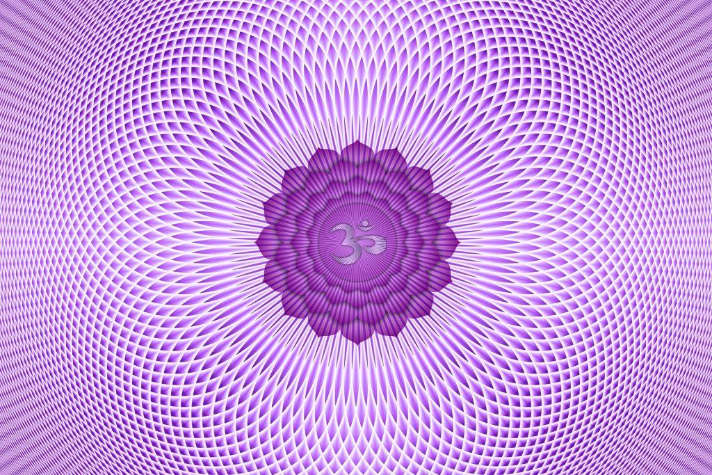 Imagem em 3D do chakra na cor lilás.