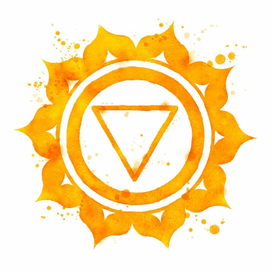 Desenho do chakra do plexo solar.