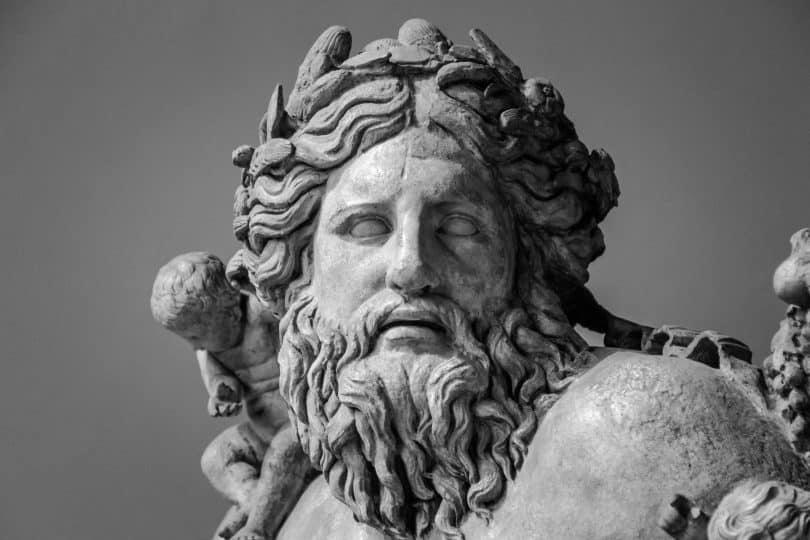 Imagem do busto de Zeus o Deus do Olimpo.