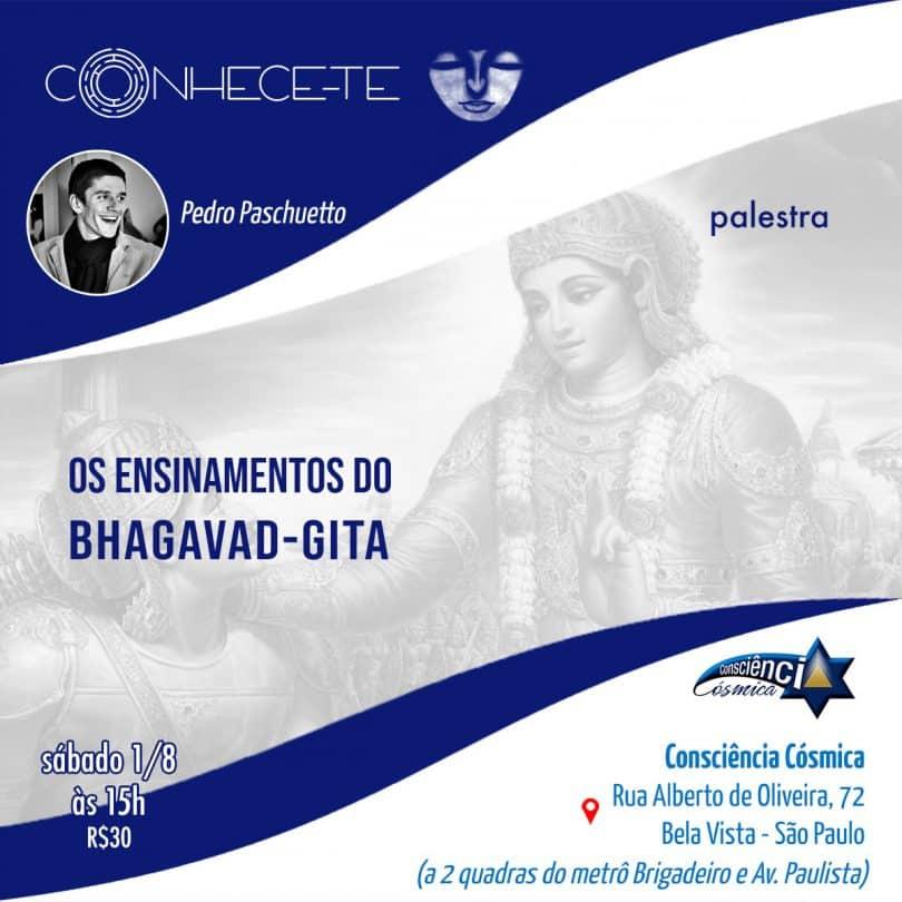 """Flyer evento """"Os ensinamentos do Bhagavad-Gita"""""""
