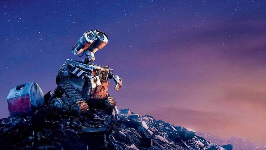 Wall-E olhando para o céu