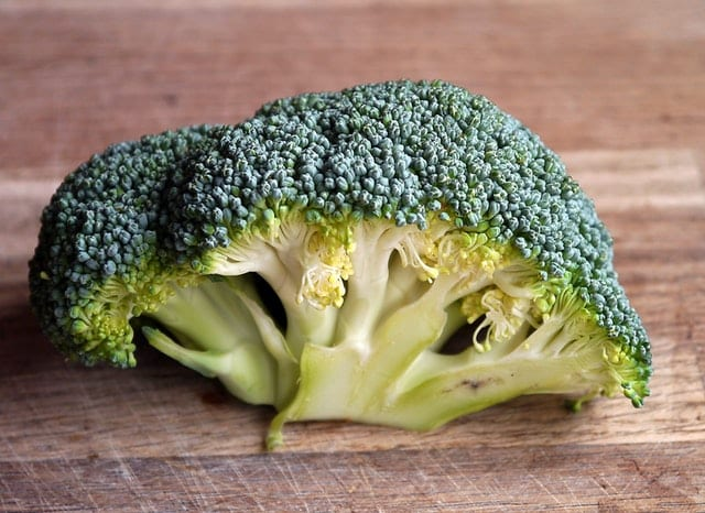 Brócolis visto de perto