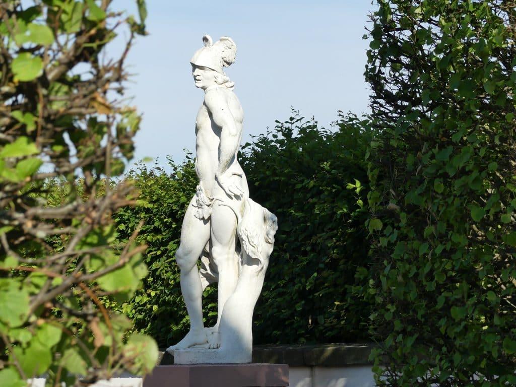 Imagem do Deus Hermes da mitologia Grega.