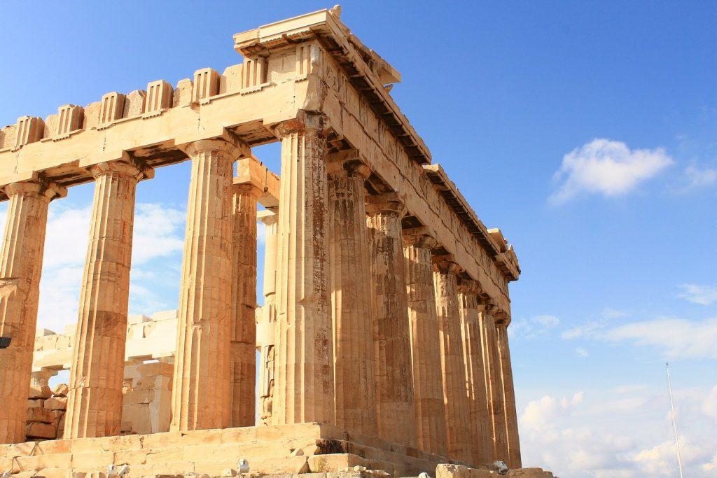 Imagem do tempo Parthenon na Grécia.