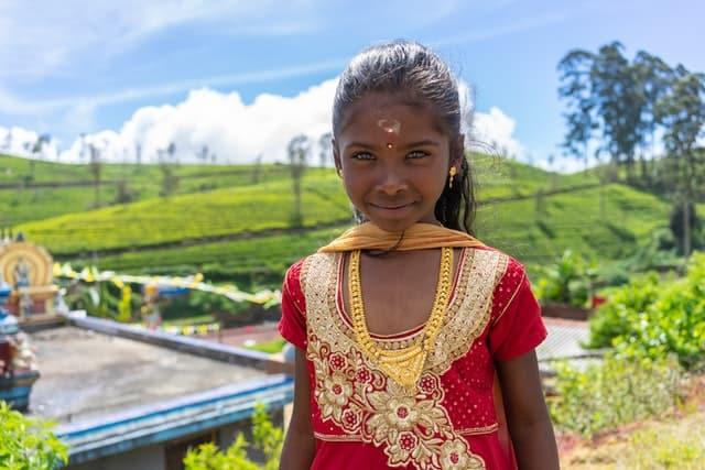 Garota indiana vista de perto