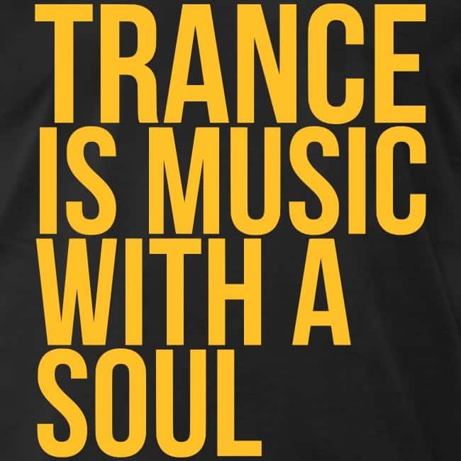 """""""Trance é música com alma"""" em Inglês."""