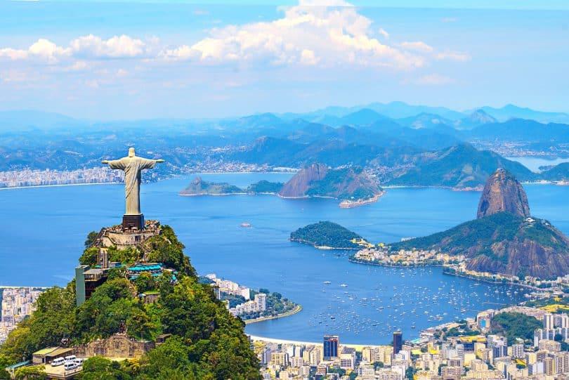 Foto panorâmica tirada da cidade do Rio de Janeiro.