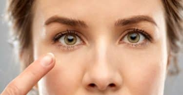 Olhos de mulher visto de perto