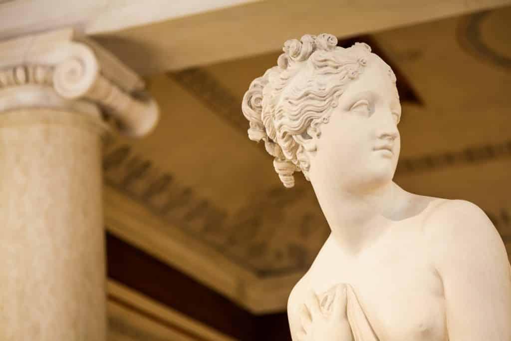 Imagem do busto da deusa Afrodite.