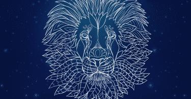 Ilustração de um leão.