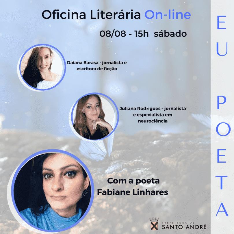 Flyer de Oficina Literária Online