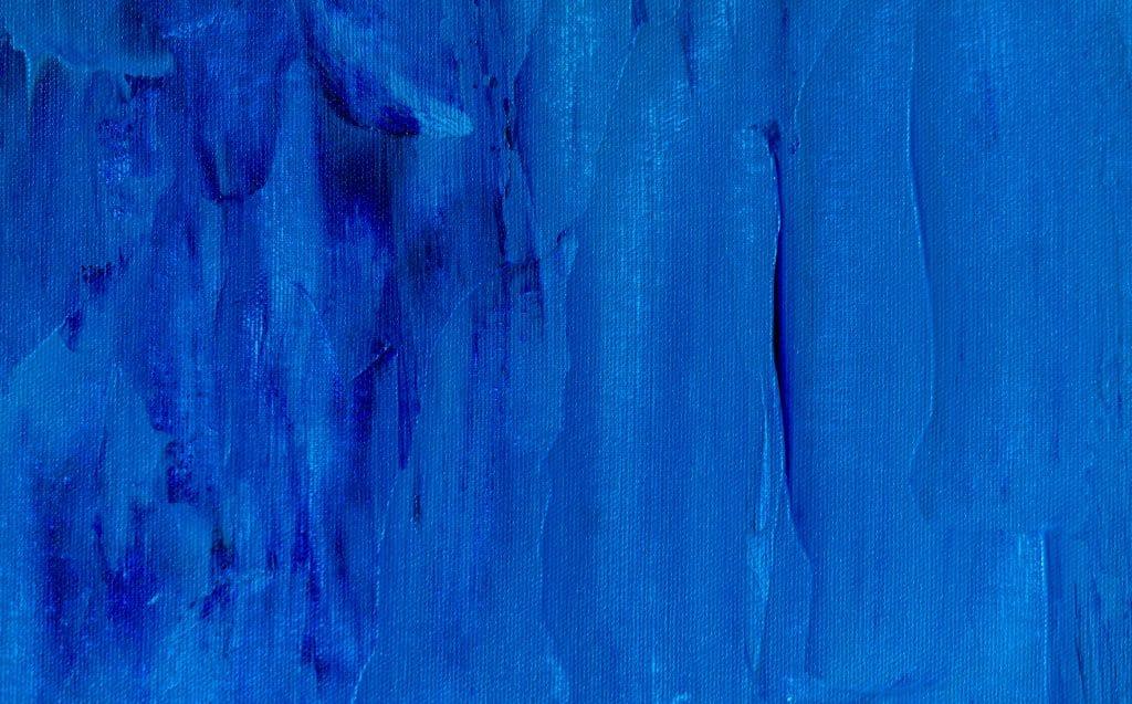 Tela pintada de azul