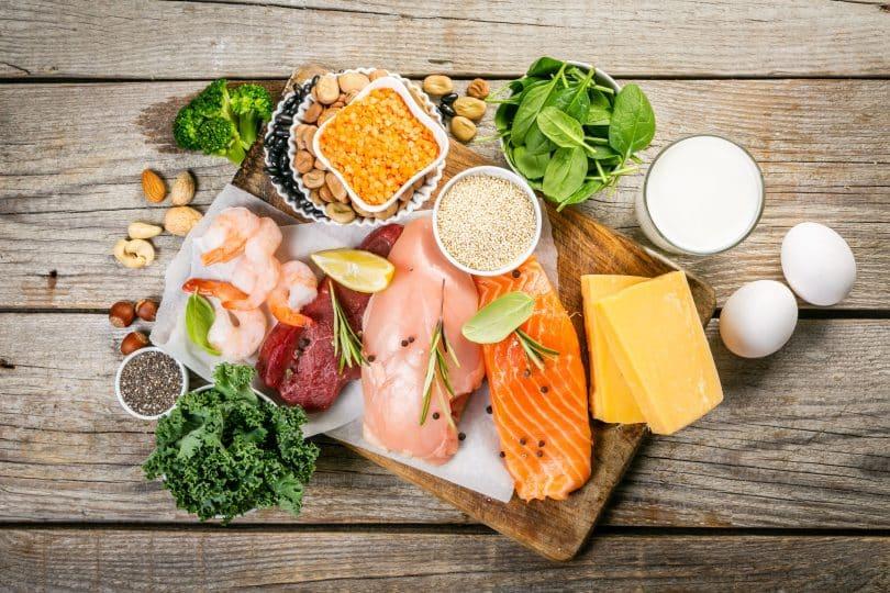 Alimentos de origem animal.