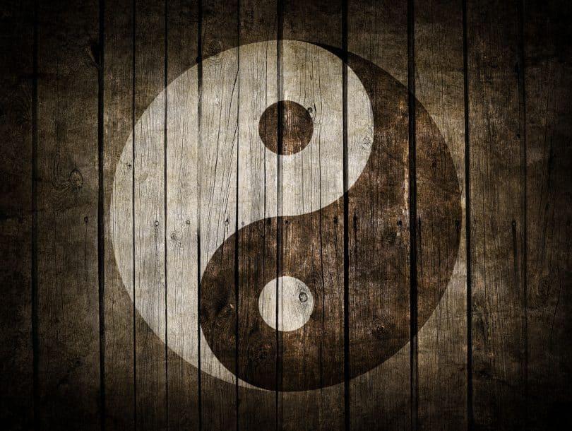 Ilustração do símbolo do yin yang
