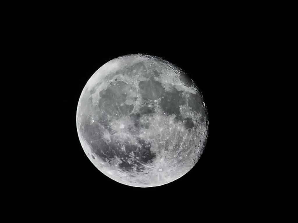 Imagem da lua cheia.