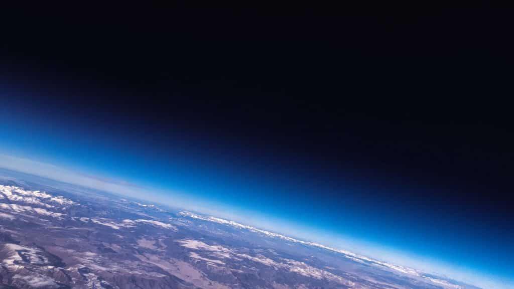 Imagem do planeta Terra vista do espaço.