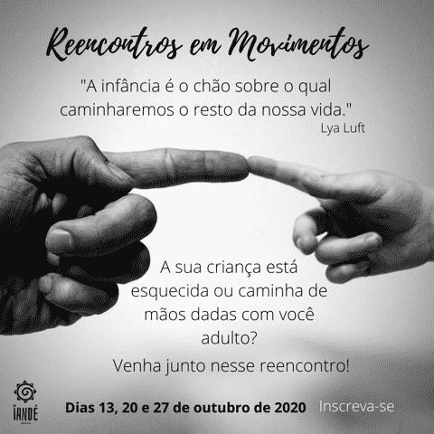 """Flyer evento """"Reencontros em Movimentos"""""""