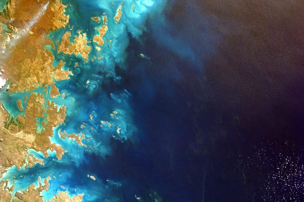 Foto da terra vista de cima.