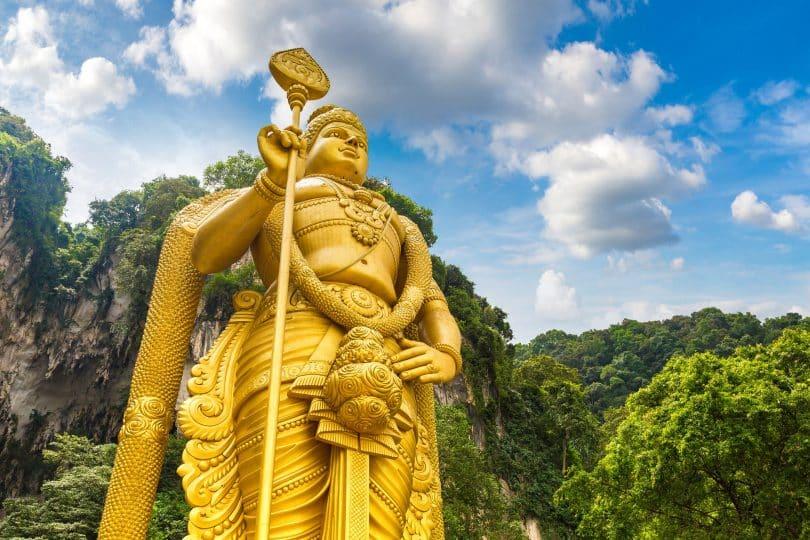 Escultura de Deus Murugan.