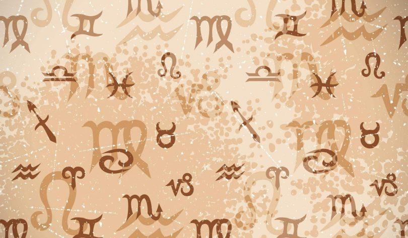Imagem ilustrativa dos 12 signos do zodíaco representando o calendário astrológico.