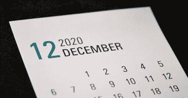 Calendário de Dezembro de 2020