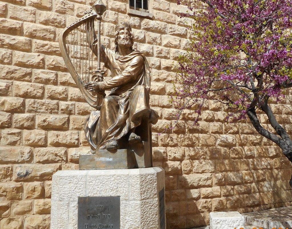 Escultura de Rei Davi.