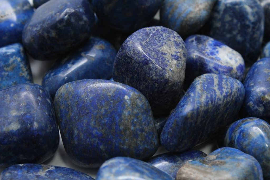 Pedras azuis.