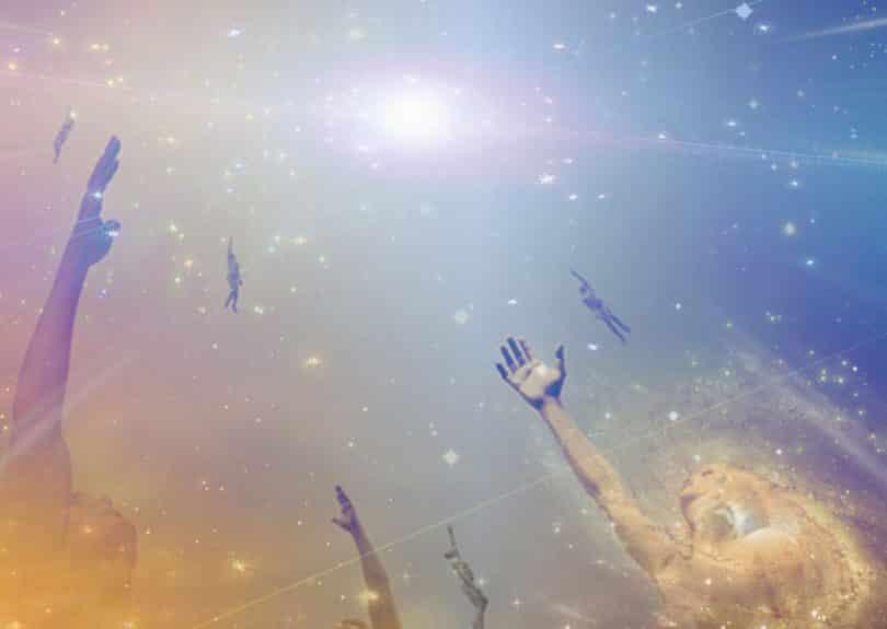 Espíritos subindo aos céus.
