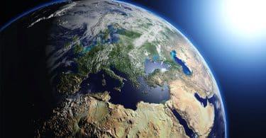 Visão do planeta Terra.