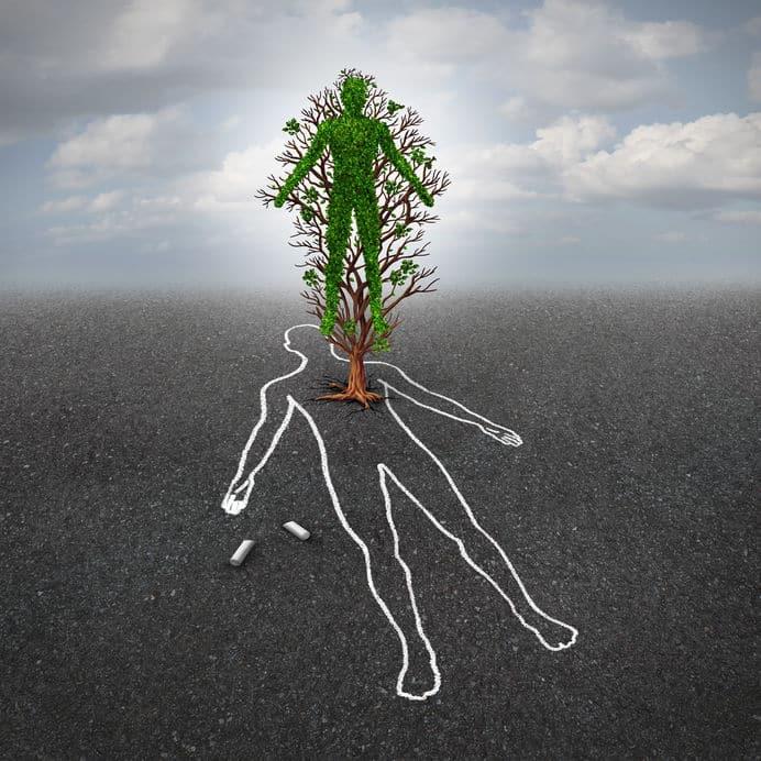 Imagem ilustrativa remetendo a vida depois da morte