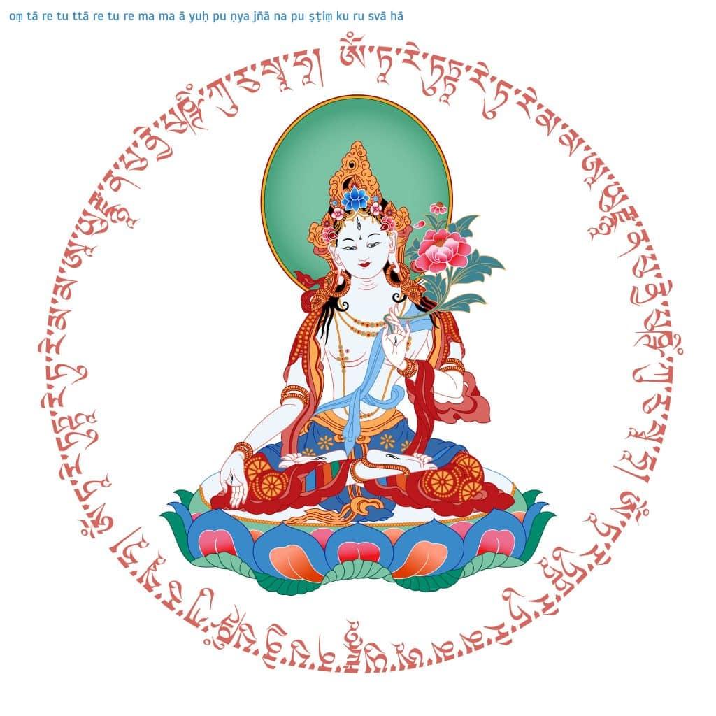 Escultura de Buda feminino.