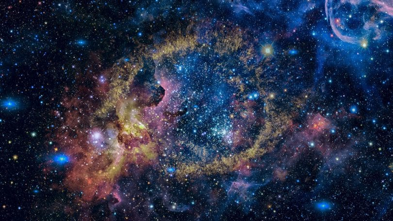 Imagem representando uma transição planetária