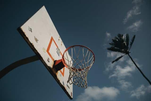 Cesta de basquete.