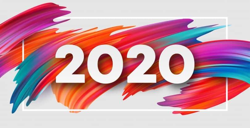 Ilustração vetorial de 2020.
