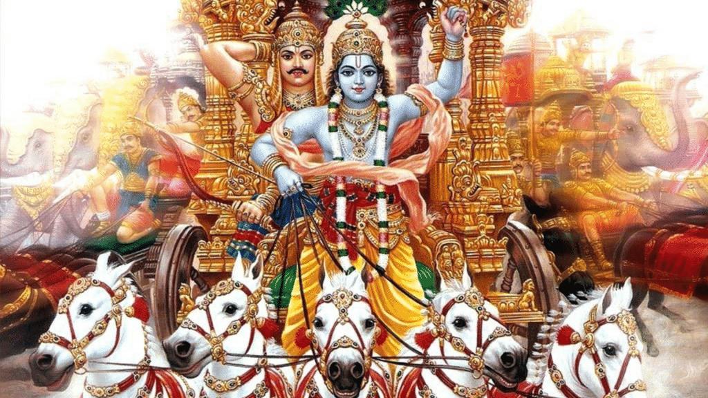 Lorde Krishna guiando carruagem