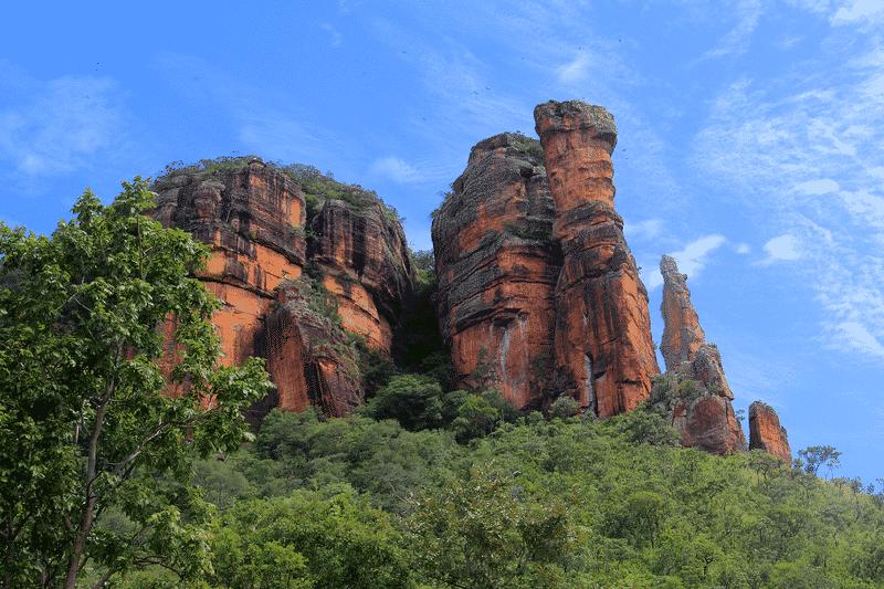Fotografia da Serra do Roncador, no Mato Grosso.